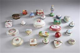 1820: COLLECTION LIMOGES PORCELAIN BOXES. late 19th and