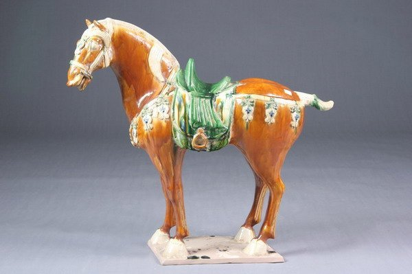 3: CHINESE SANCAI POTTERY FIGURE OF HORSE, Tang dynasty
