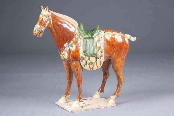 4: CHINESE SANCAI POTTERY FIGURE OF HORSE, Tang dynasty