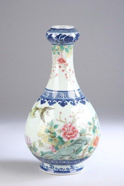 231: CHINESE FAMILLE ROSE PORCELAIN VASE, Qianlong unde