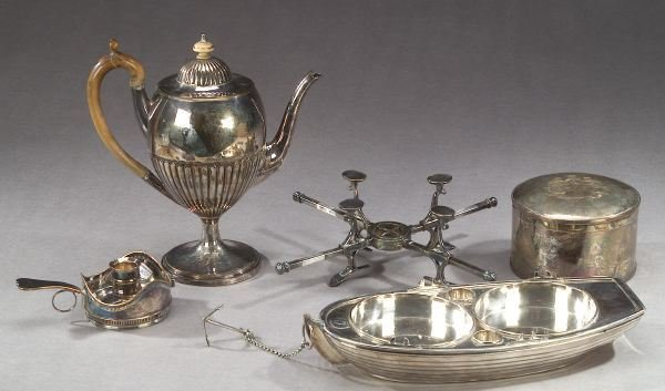 11: FIVE PIECES OF SHEFFIELD PLATE, circa 1810-1820 - 1