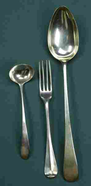 A COLLECTION OF FLATWARE, - 15 oz., 8 dwt