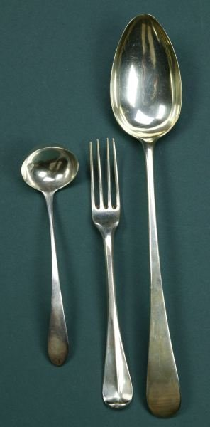13: A COLLECTION OF FLATWARE, - 15 oz., 8 dwt
