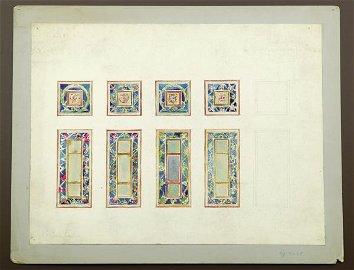 1371: TEN BOARDS, - 8 1/2 x 9 in.