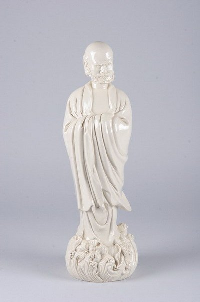 2016: CHINESE BLANC-DE-CHINE FIGURE OF IMMORTAL, 20th c