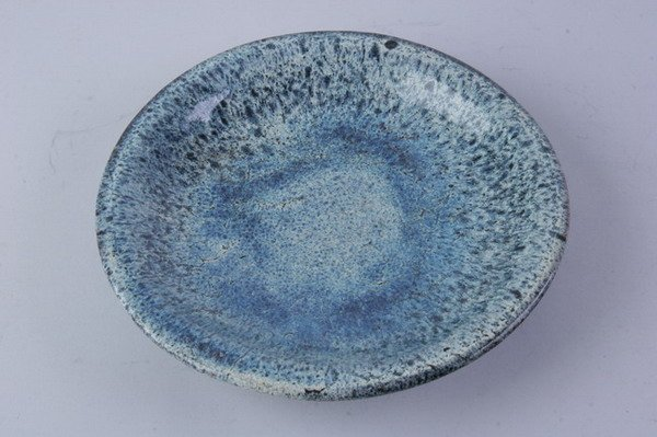 2018: CHINESE FLAMBE PORCELAIN CHARGER. - 11 in. diam.