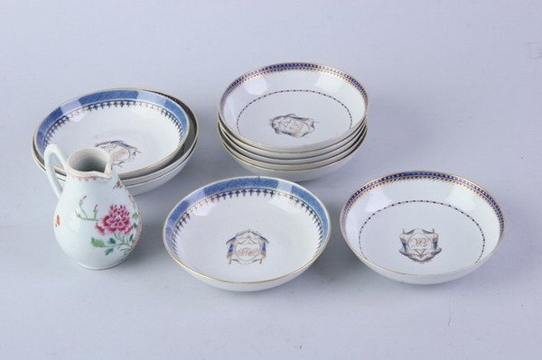 2020: ELEVEN PIECES CHINESE EXPORT PORCELAIN, 18th Cent