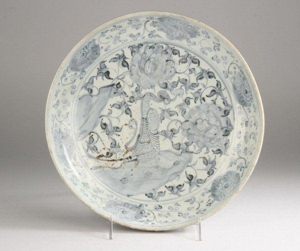 2024: CHINESE BLUE AND WHITE PORCELAIN BOWL. - 12 in. d