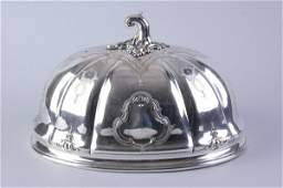 2540: VICTORIAN SILVER PLATED DOMED MEAT COVER. - 16 in