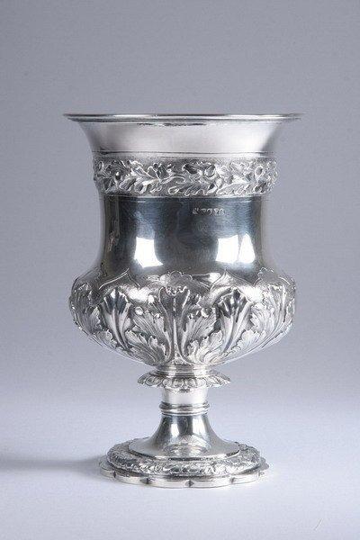 586: WILLIAM IV SILVER WINE COOLER. RP GR, London, 1832