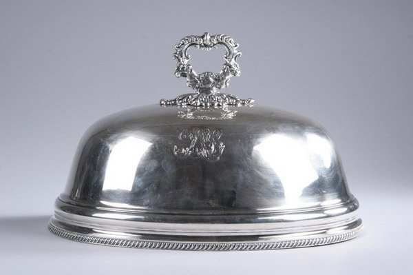 593: SHEFFIELD PLATE DOMED MEAT COVER. early 19th centu