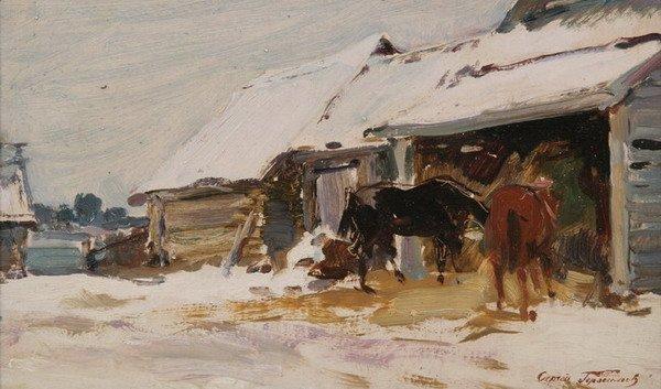 844: SERGEI GERASIMOV (Russian, 20th century). WINTER,