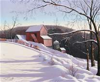 995: THOMAS KERRY (American, 20th century). RED BARN IN