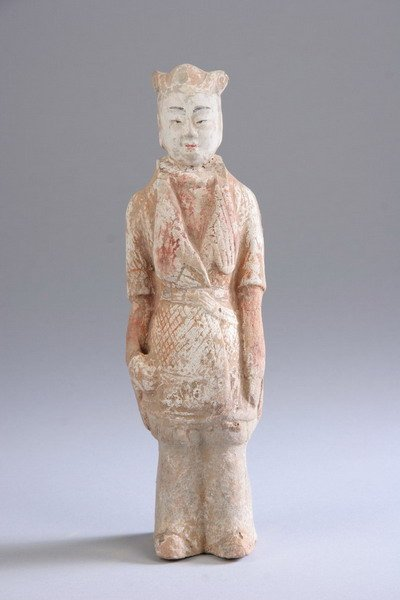 8: CHINESE TERRACOTTA FIGURE OF STANDING COURT OFFICIAL