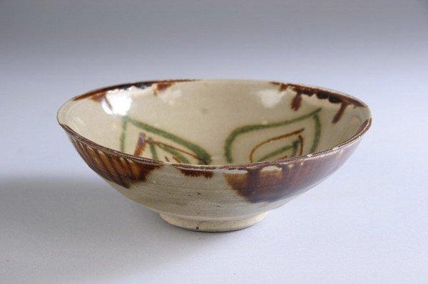9: CHINESE CHANGSA STONEWARE BOWL, Tang Dynasty, 9th ce