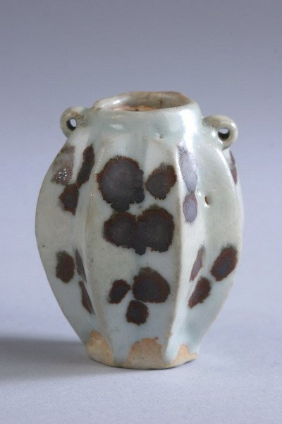 15: CHINESE COPPER RED AND WHITE PORCELAIN JARLET, Song