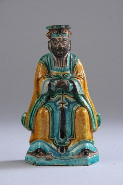 24: CHINESE SANCAI BISCUIT DIGNITARY. Ming Dynasty. - 6