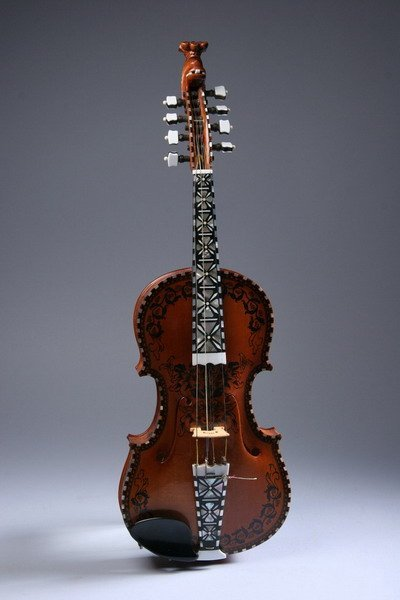824: SCANDINAVIAN PAINTED AND MOTHER-OF-PEARL INLAID SA