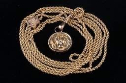 1196 LADYS VICTORIAN 14K YELLOW GOLD ROPE DESIGN WATC