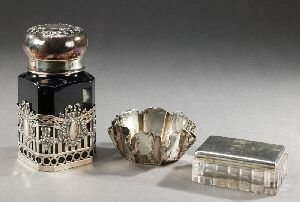 9: THREE PIECES GERMAN SILVER, Early 20th century. Incl