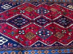 AN AFGHAN RUG, ANTIQUE PERSIAN, 6ft 2in X 9ft 11i