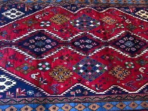 680: AN AFGHAN RUG, ANTIQUE PERSIAN,  6ft 2in X 9ft 11i