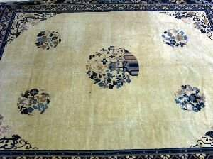 """A CHINESE RUG, Approx. 8'2"""" x 12'8""""."""