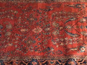 690: A SAROUK MAHAL RUG,  4 ft. 3 in. x 6 ft. 3 in.