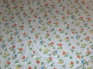 693: A PORTUGUESE NEEDLEPOINT RUG, All over floral draw