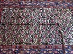 A PERSIAN MALAYER RUG, 4 ft. 10 in. x 6 ft. 8 in.