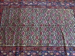 695: A PERSIAN MALAYER RUG,  4 ft. 10 in. x 6 ft. 8 in.