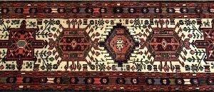 699: A KARAJA RUNNER, Intricate geometric medallions on