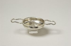 4: A GEORGE III SILVER LEMON STRAINER, Marks rubbed, ci