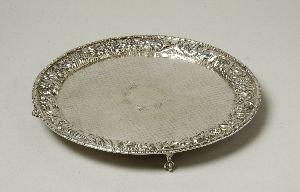 7: A VICTORIAN SILVER SALVER, Marks erased, circa 1860.