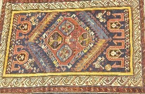 907: A CAUCASIAN RUG,  3ft. 6in. x 5ft. 1in.