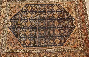911: A MALAYER RUG,  5ft. 2in. x 6ft. 2in.