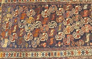 918: A CAUCASIAN RUG,  3ft. 10in. x 5ft. 5in.