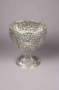AN AMERICAN SILVER SMALL PUNCH BOWL. By S. Kirk & S