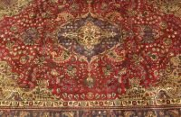 702: A PERSIAN TABRIZ RUG,  6ft. 9in. x 9ft. 5in.