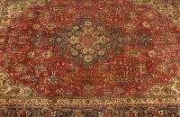 A PERSIAN TABRIZ RUG, 6ft. 6in. x 9ft. 5in.