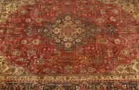 703: A PERSIAN TABRIZ RUG,  6ft. 6in. x 9ft. 5in.