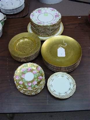 A Collection of Limoges Porcelain. Compris