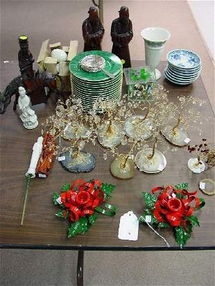 A Collection of Decorative Items. Includi