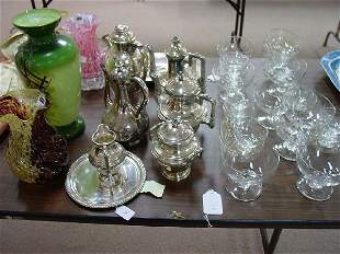 A Four Piece Victorian Silver Plate Coffe