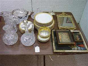 A Collection of Crystal and Porcelain. Co
