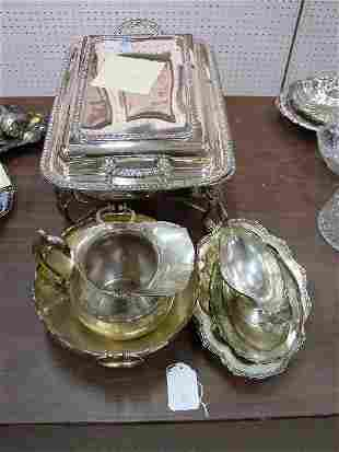A Collection of Silver and Silver Plate.