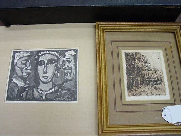 Two prints, the 1st after Cezanne togethe