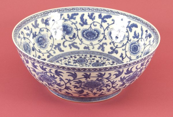 259: A CHINESE BLUE AND WHITE PORCELAIN BOWL, Qing dyna