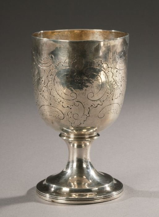 24: A GEORGE III SILVER GOBLET, London, 1807-