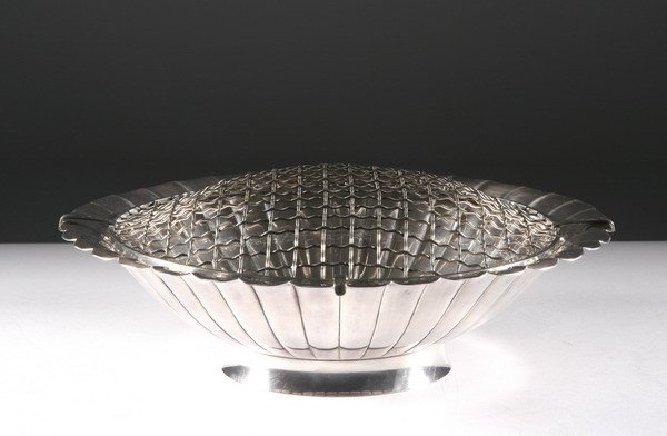 22: SILVER CENTERPIECE BOWL, mid 20th century, marked S